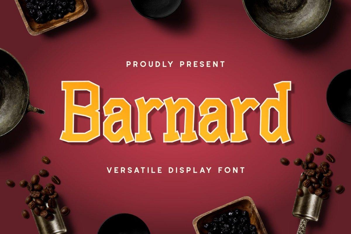 Barnard - Versatile Display Font example image 1