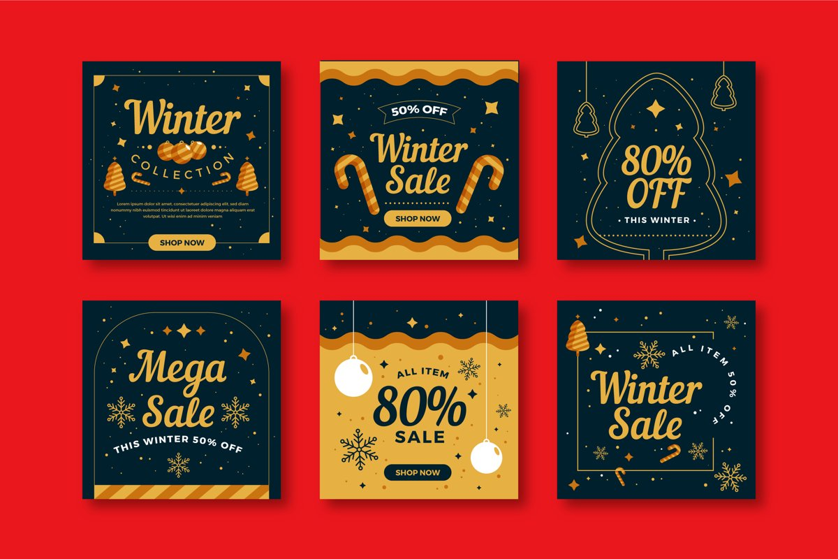Christmas Sale Instagram Post Collection example image 1