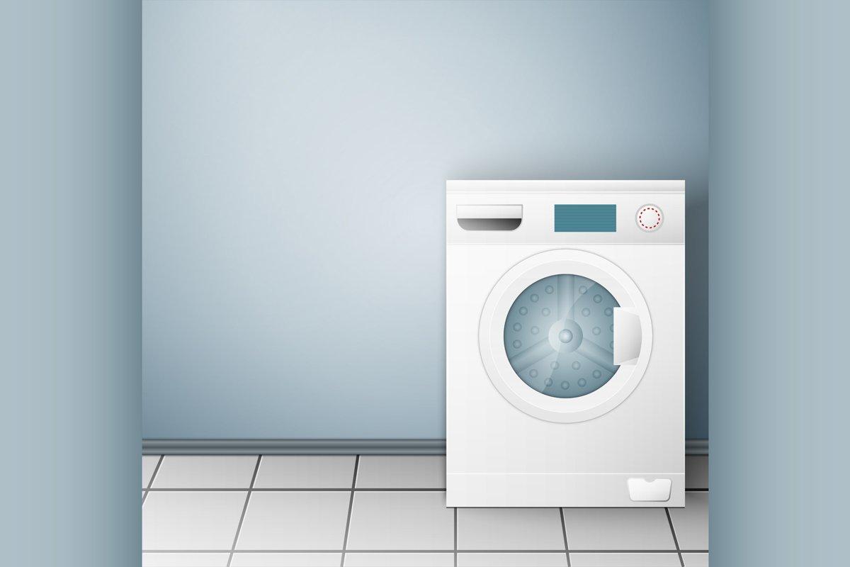 Wash machine on light background example image 1