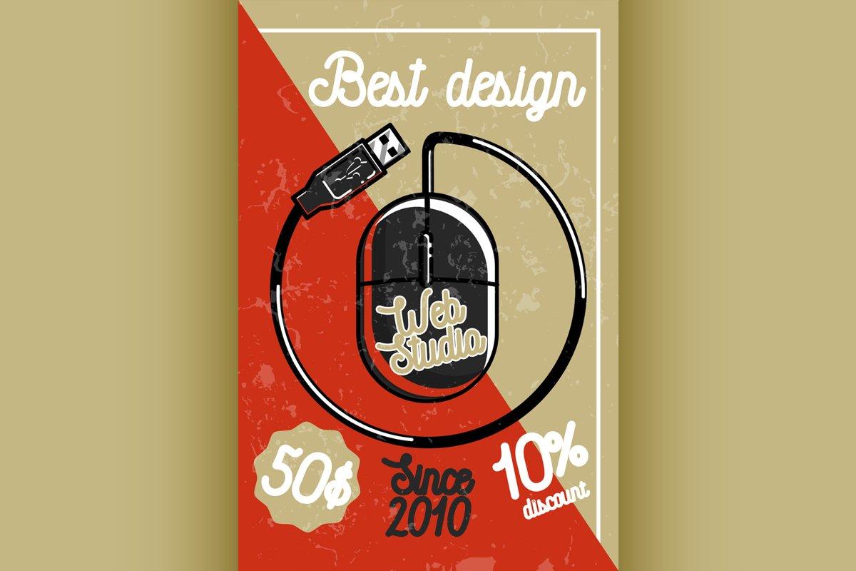 Color vintage web studio banner example image 1