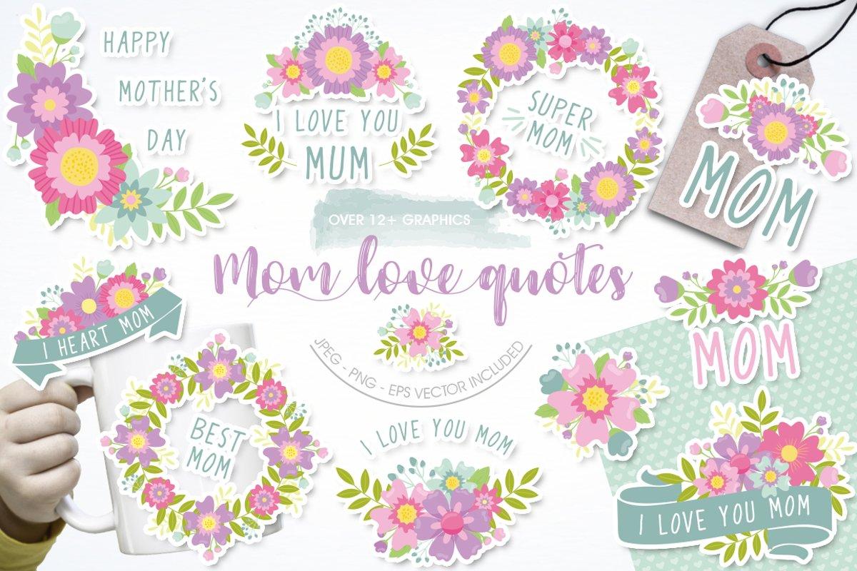 Download Mom Love Quotes 651094 Illustrations Design Bundles
