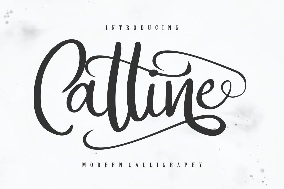 Catline | Modern Calligraphy Script example image 1