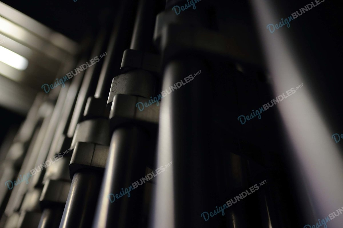 Stock Photo - shadow of the metal structure example image 1