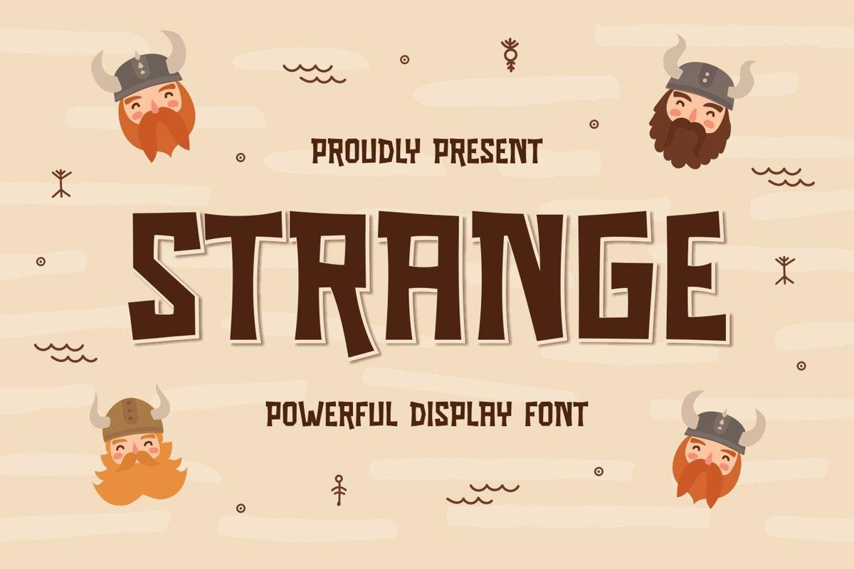 Strange - Powerful Display Font example image 1