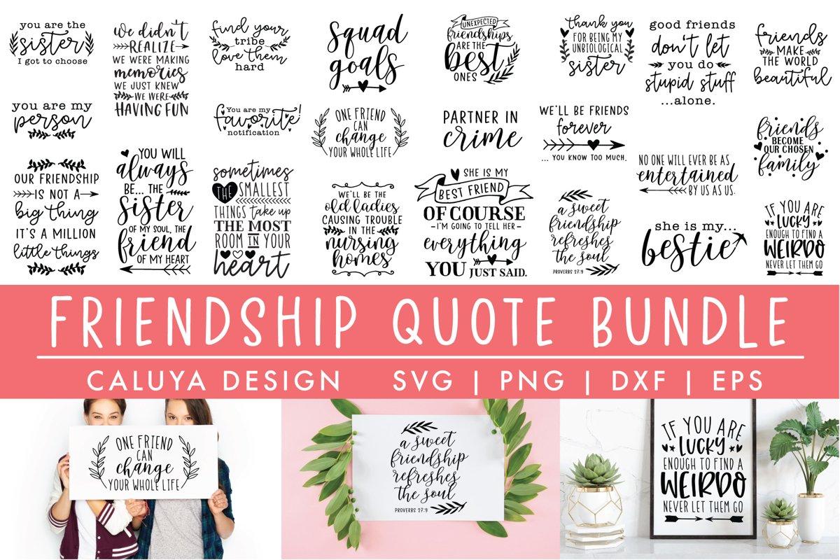 BIG Friendship Quote Bundle | BFF Funny Bundle example image 1