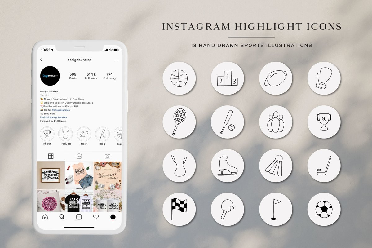 Instagram Sport Highlights Icons | Instagram Story Cover example image 1