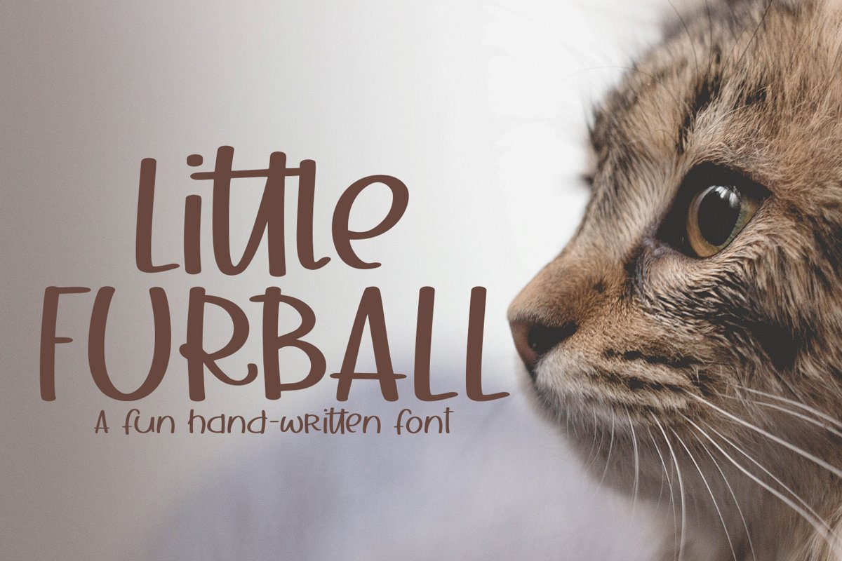 Little Furball - A Hand-Written Font example image 1