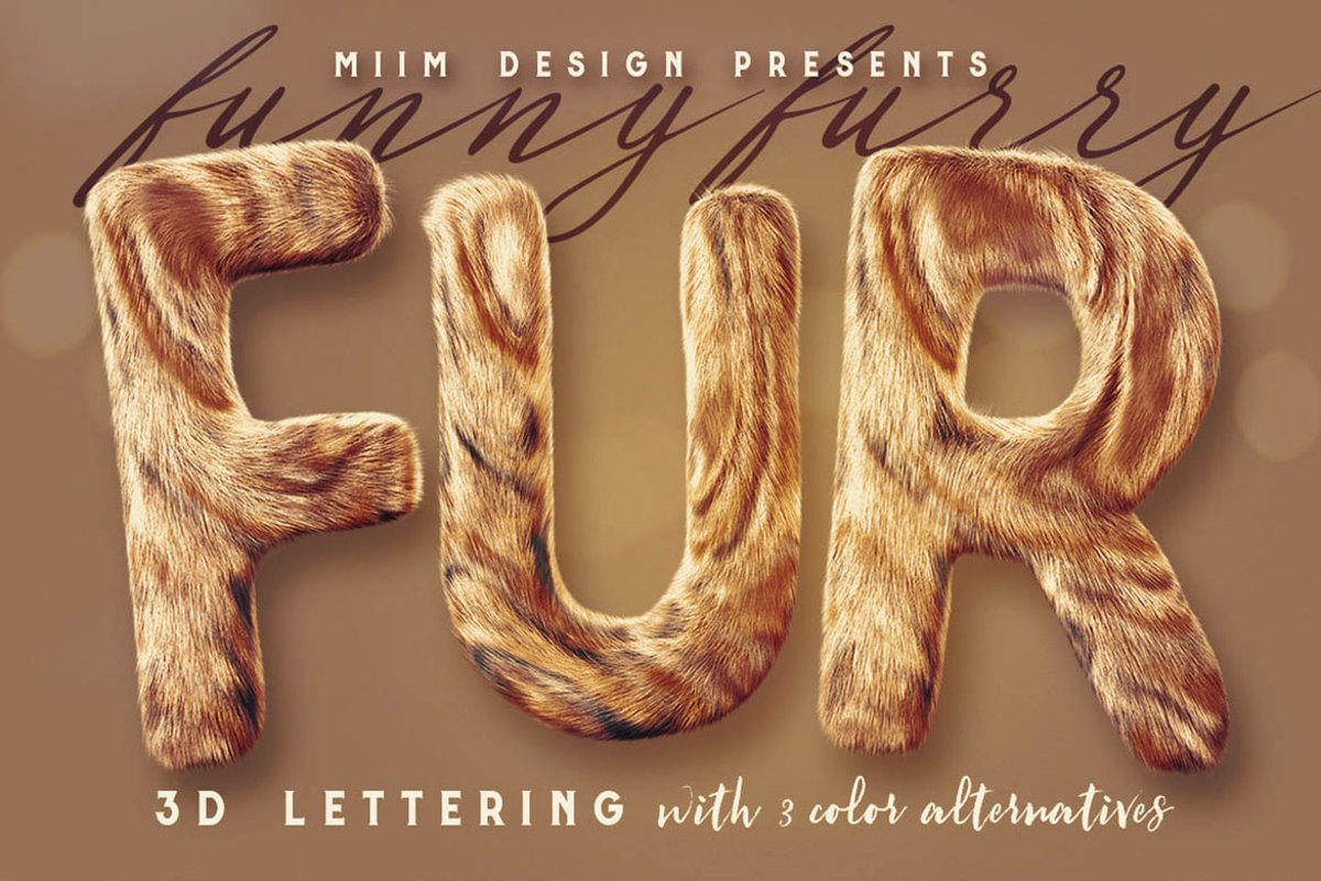 Funny Furry - 3D Lettering example image 1