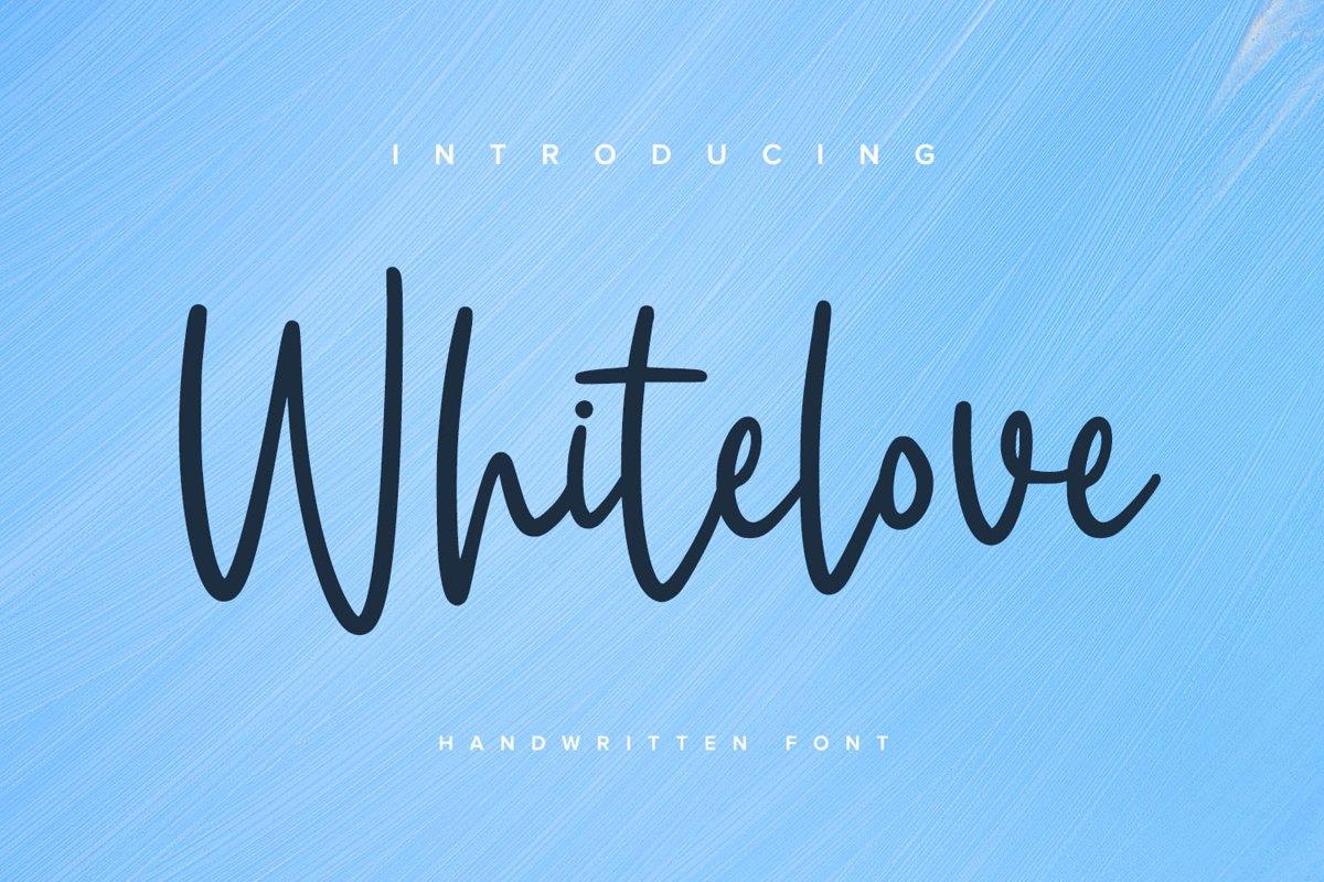 Whitelove - Handwritten Font example image 1