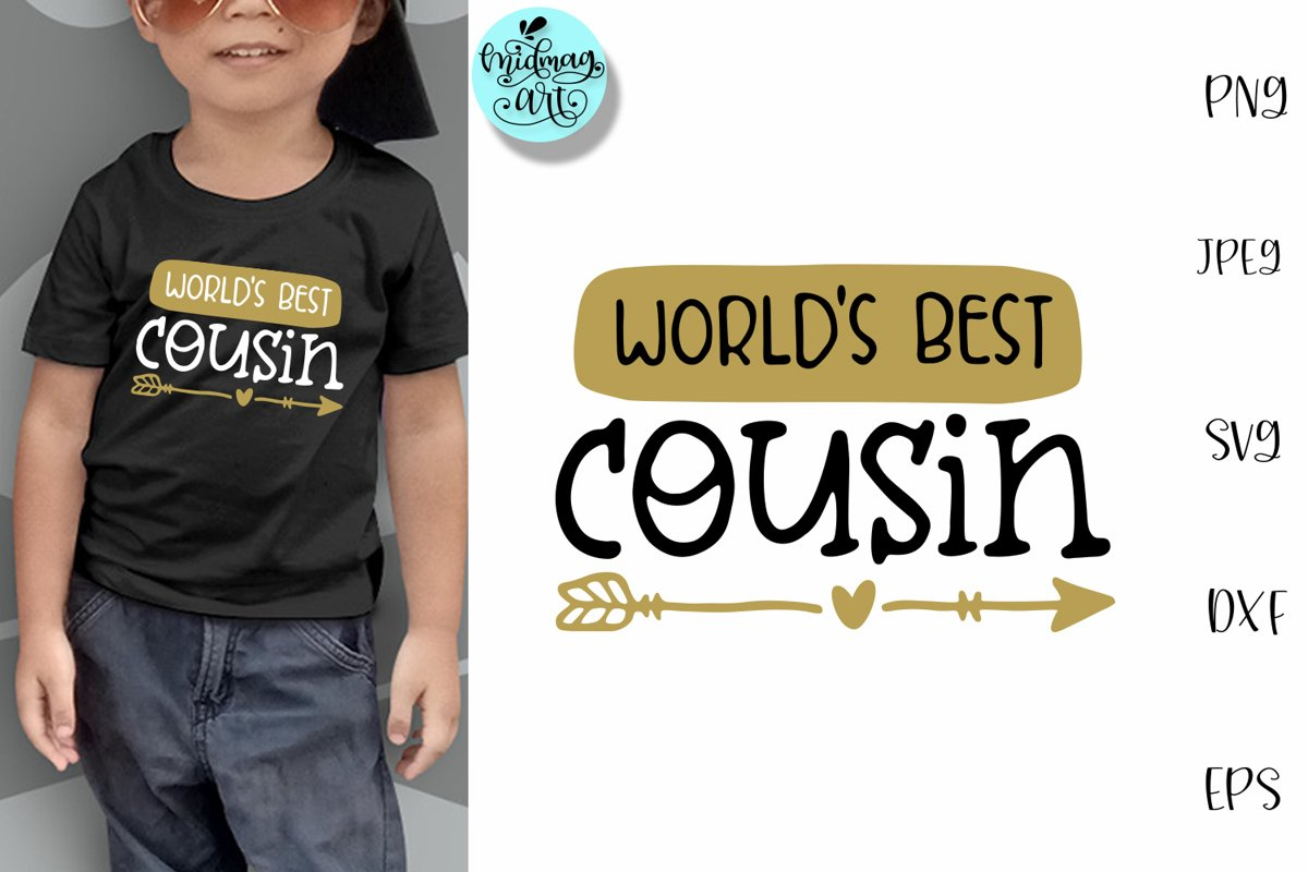 World's best cousin svg, cousin shirt svg example image 1