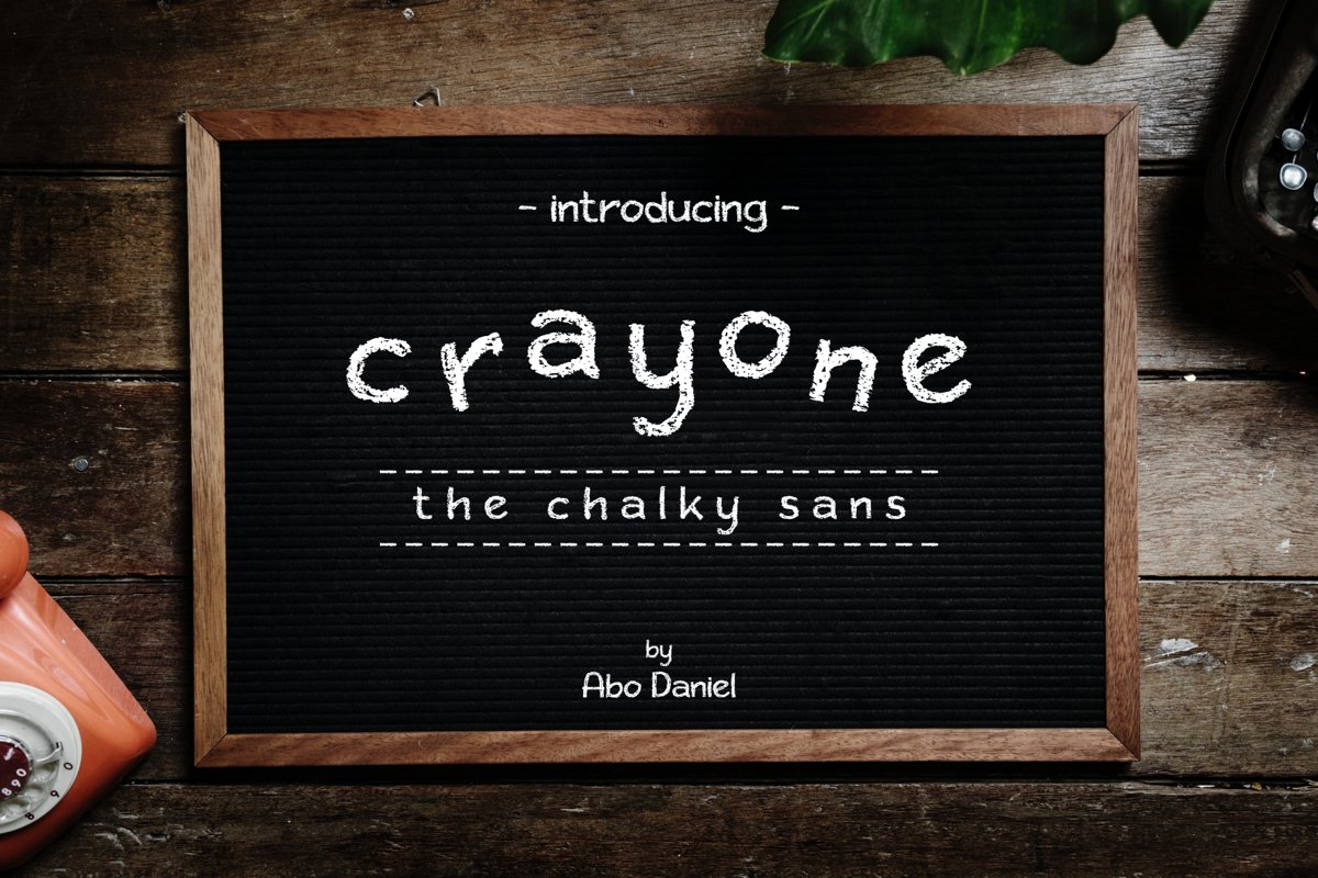 Crayone -The Chalky Sans- example image 1