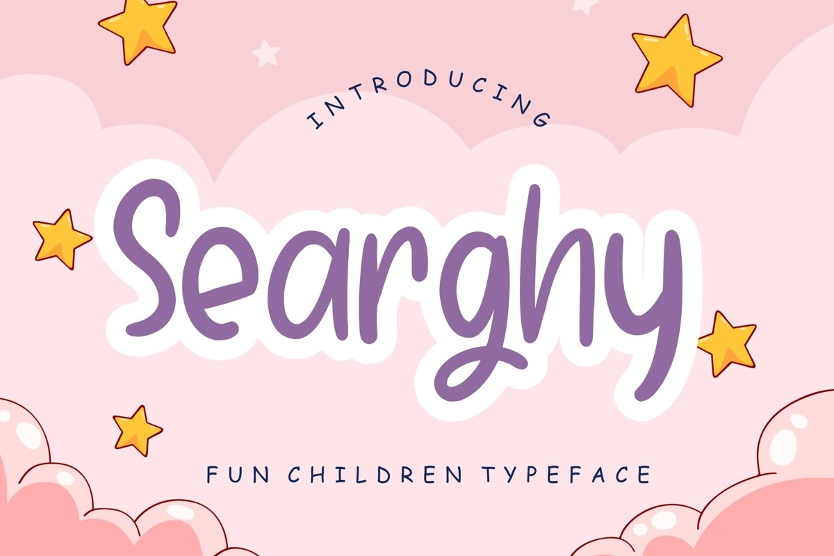 Searghy Fun Children Typeface example image 1