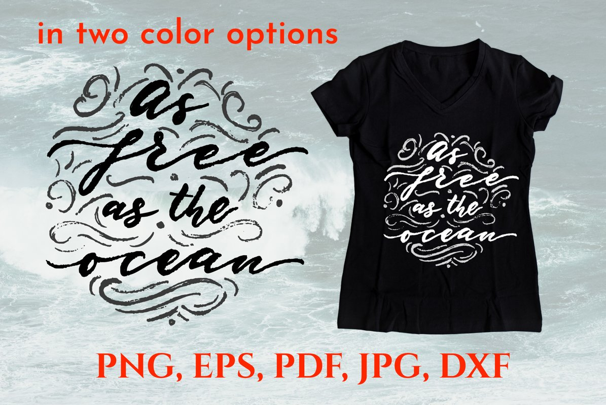Summer positive quote. T-shirt design example image 1