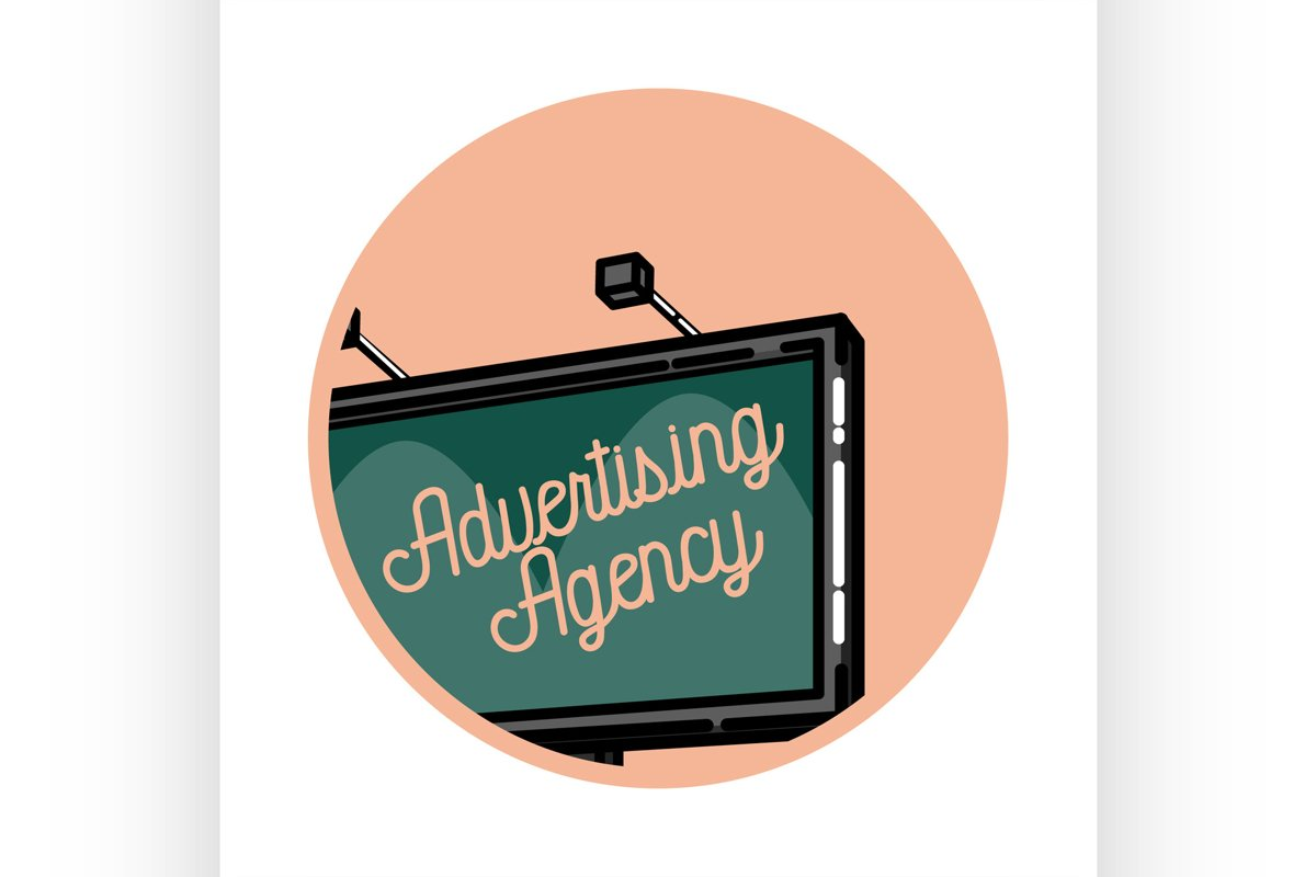 Color vintage advertising emblem example image 1