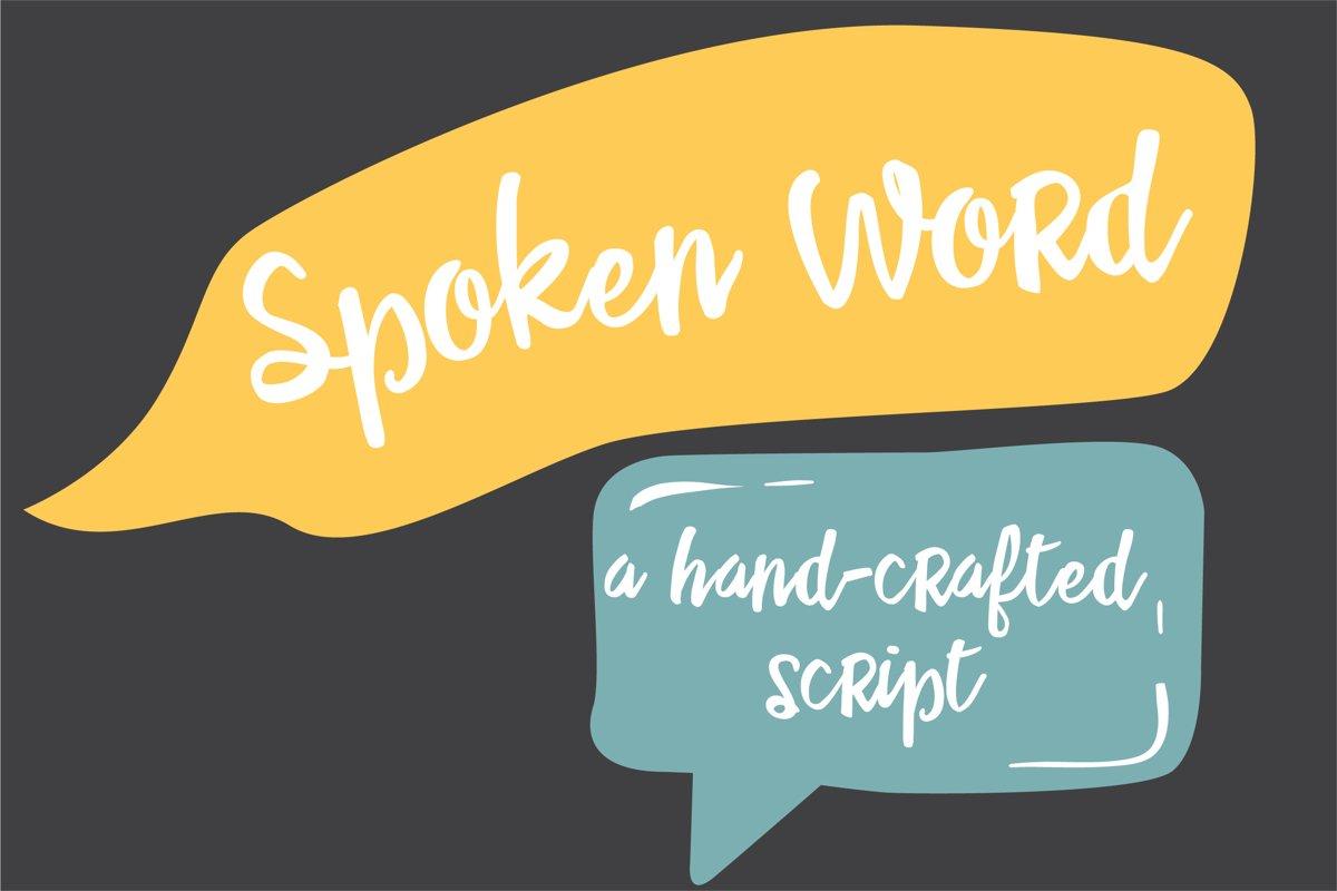 PN Spoken Word example image 1