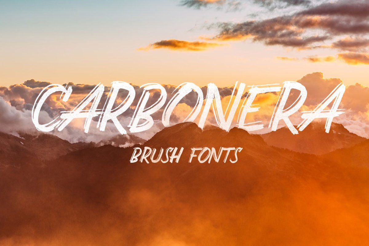 Carbonera Brush Fonts example image 1