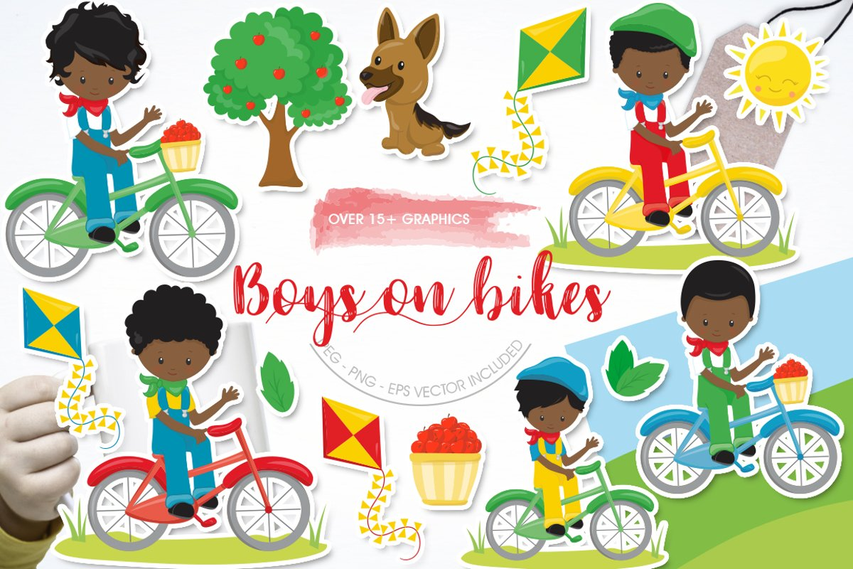 African American Boys on bikes example image 1