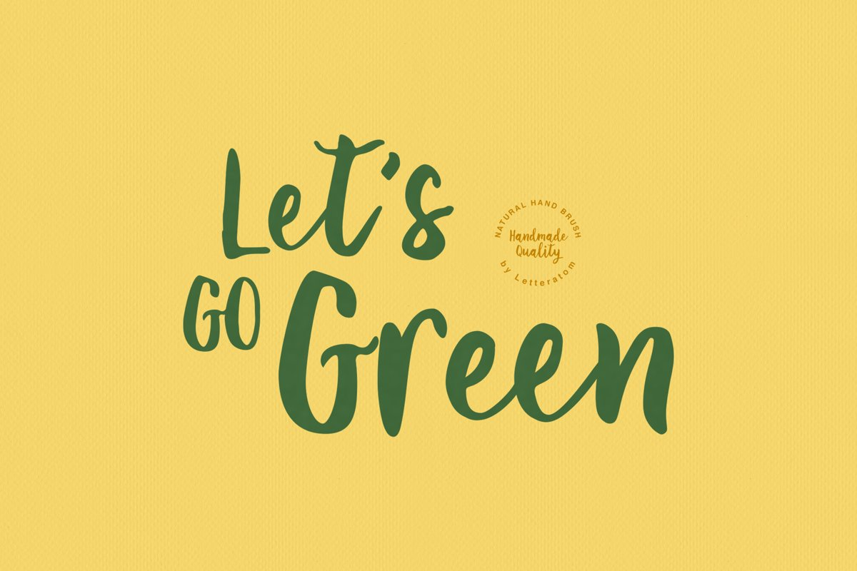Let's Go Green | Natural Hand Brush example image 1