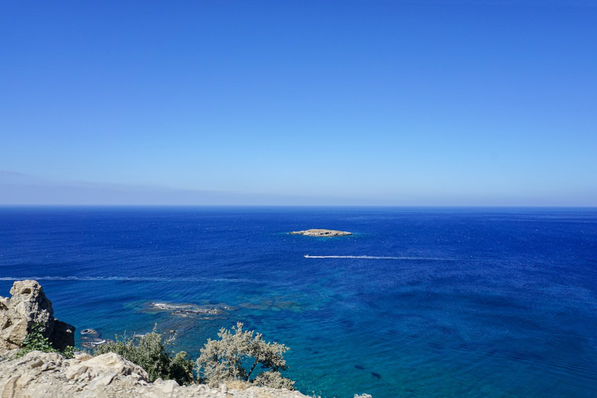 beautiful view of the cliffs and the blue sea example image 1