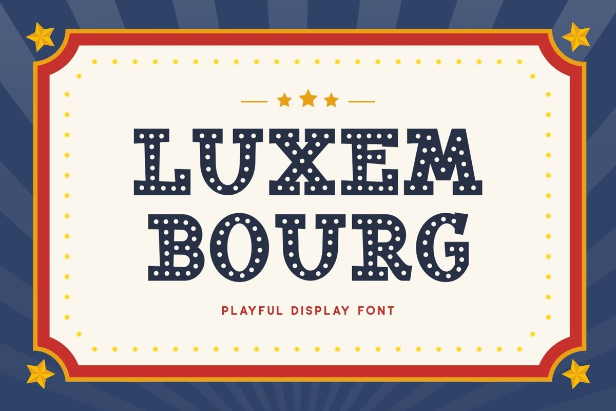 Luxembourg - Playful Display Font example image 1