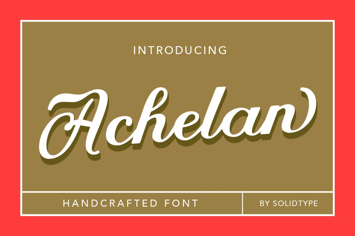 Achelan Script example image 1