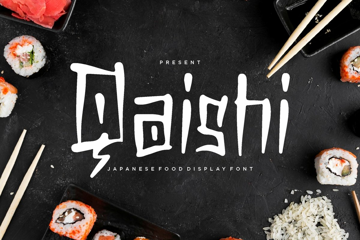 Qaishi - Japanese Display Font example image 1