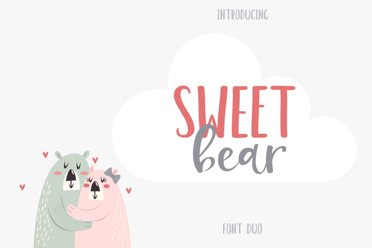 Sweet Bear Font Duo example image 1