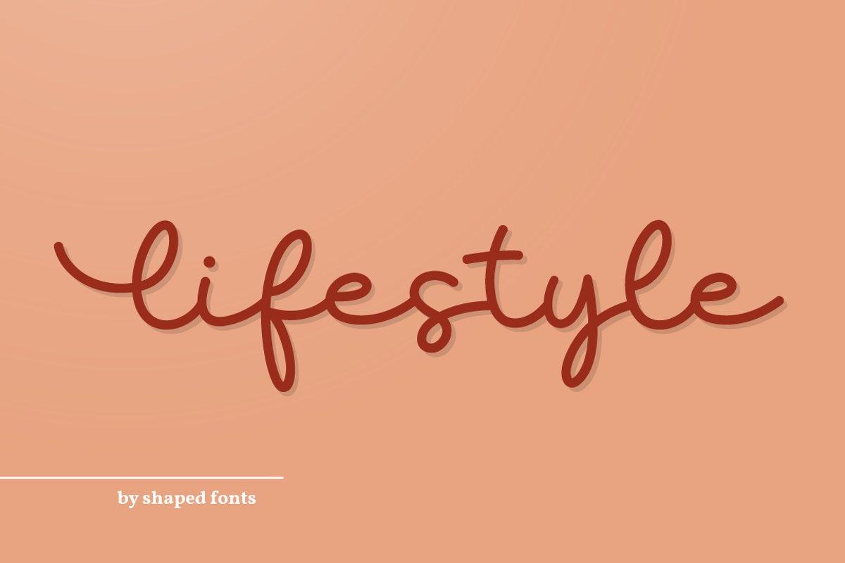 Lifestyle - elegant monoline script example image 1