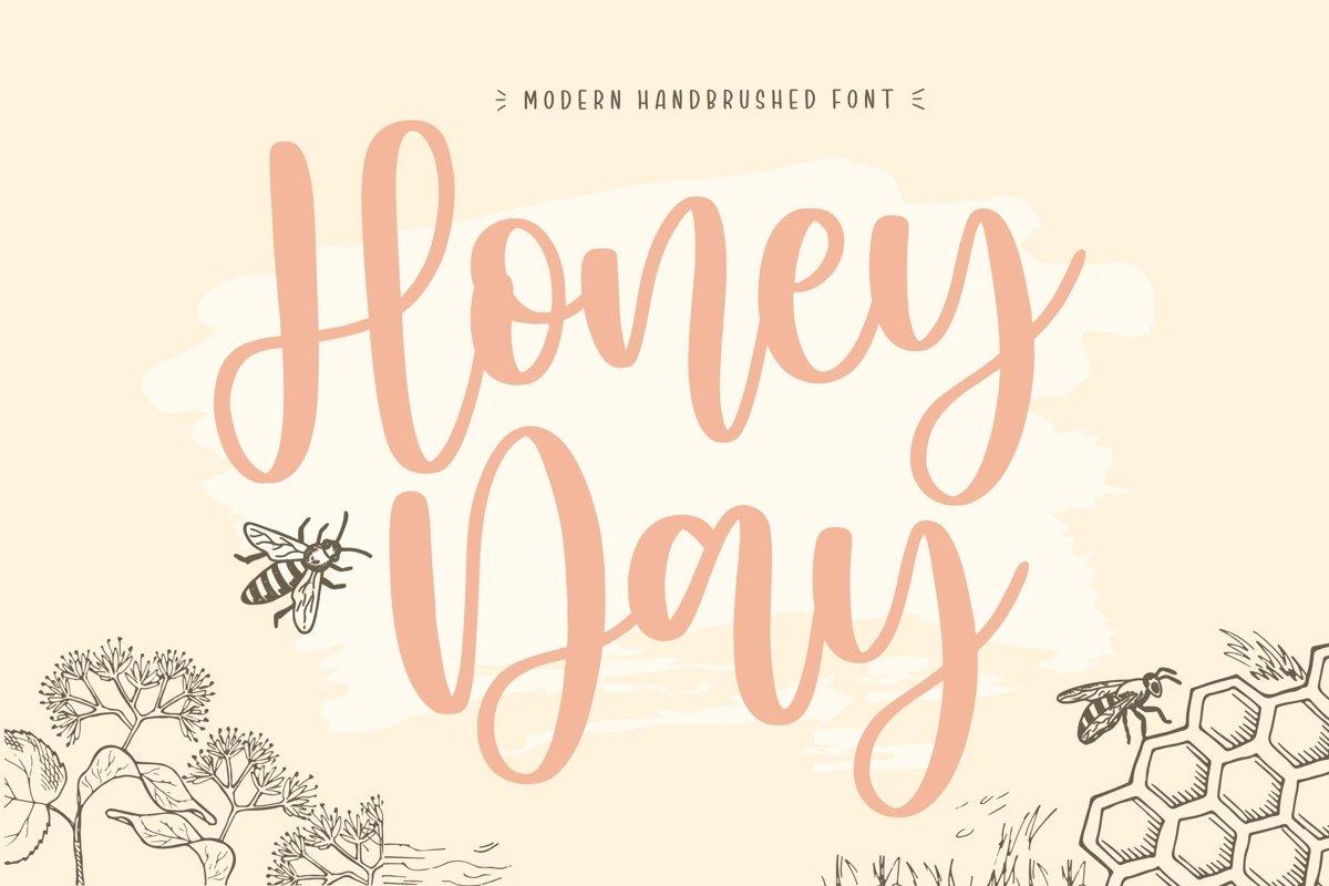 Honeyday Modern Handbrushed Font example image 1