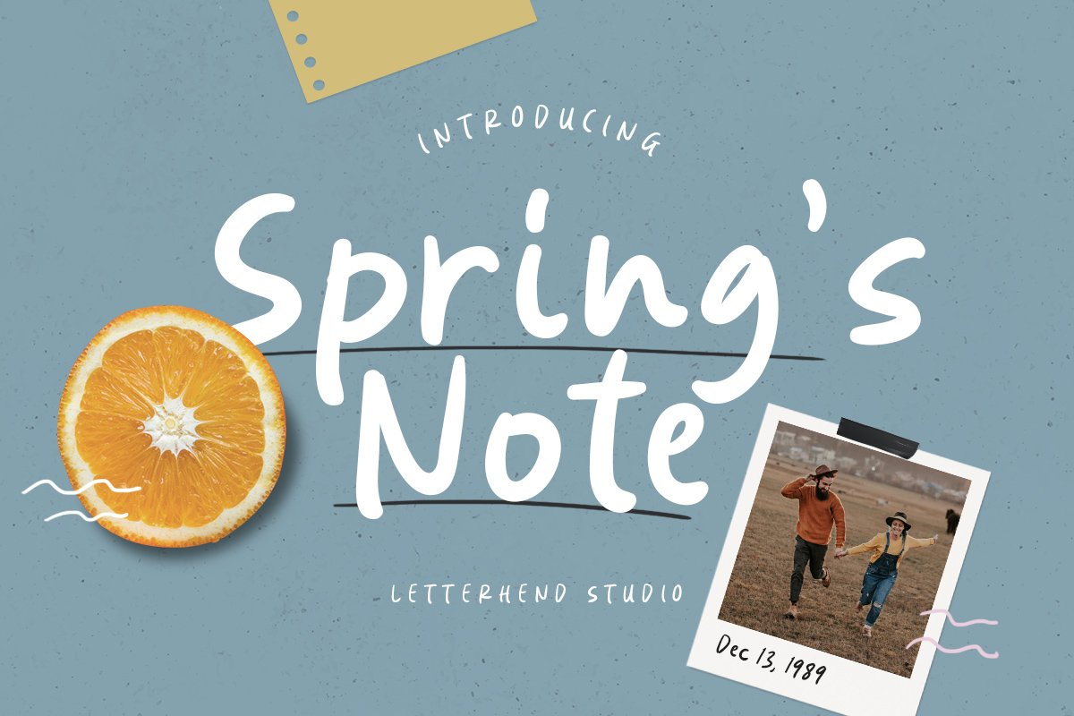 Springs Note Handwritten Font example image 1