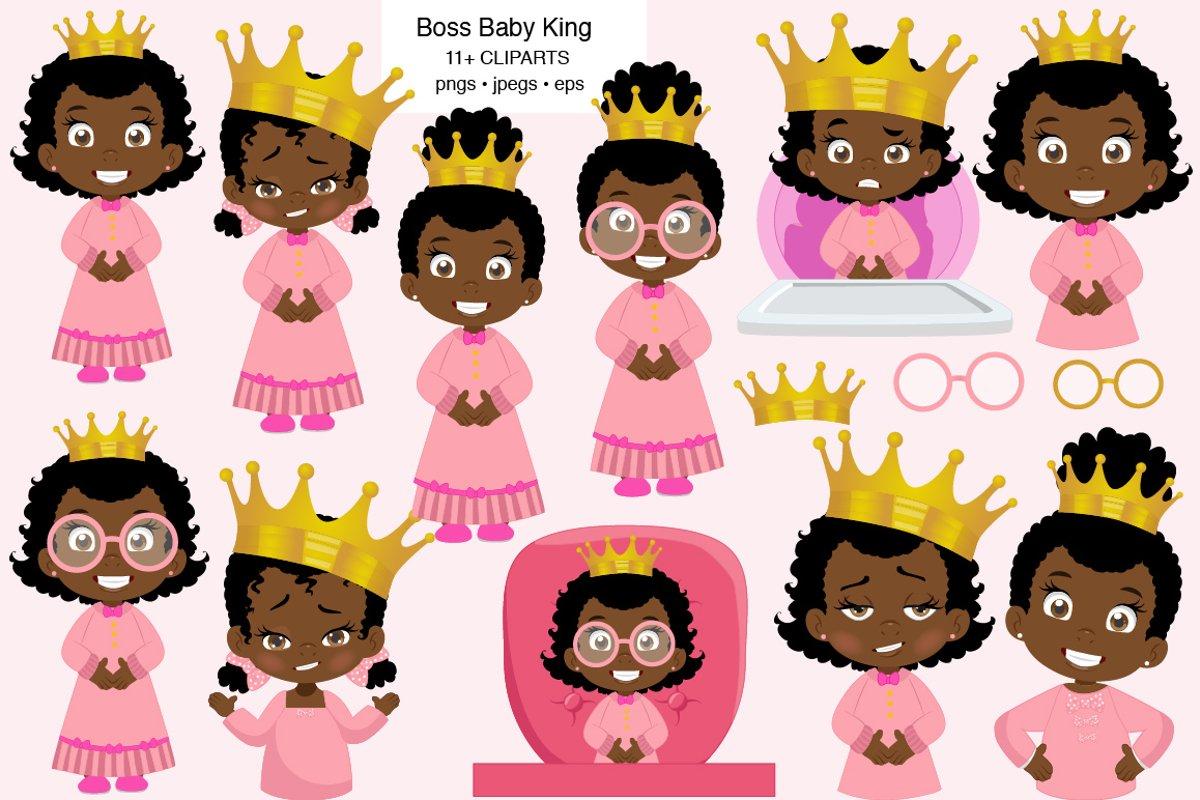 African American Baby queen clipart example image 1
