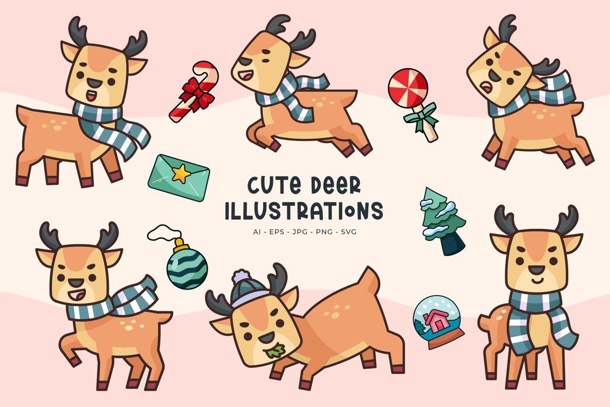 Deer Illustrations example image 1
