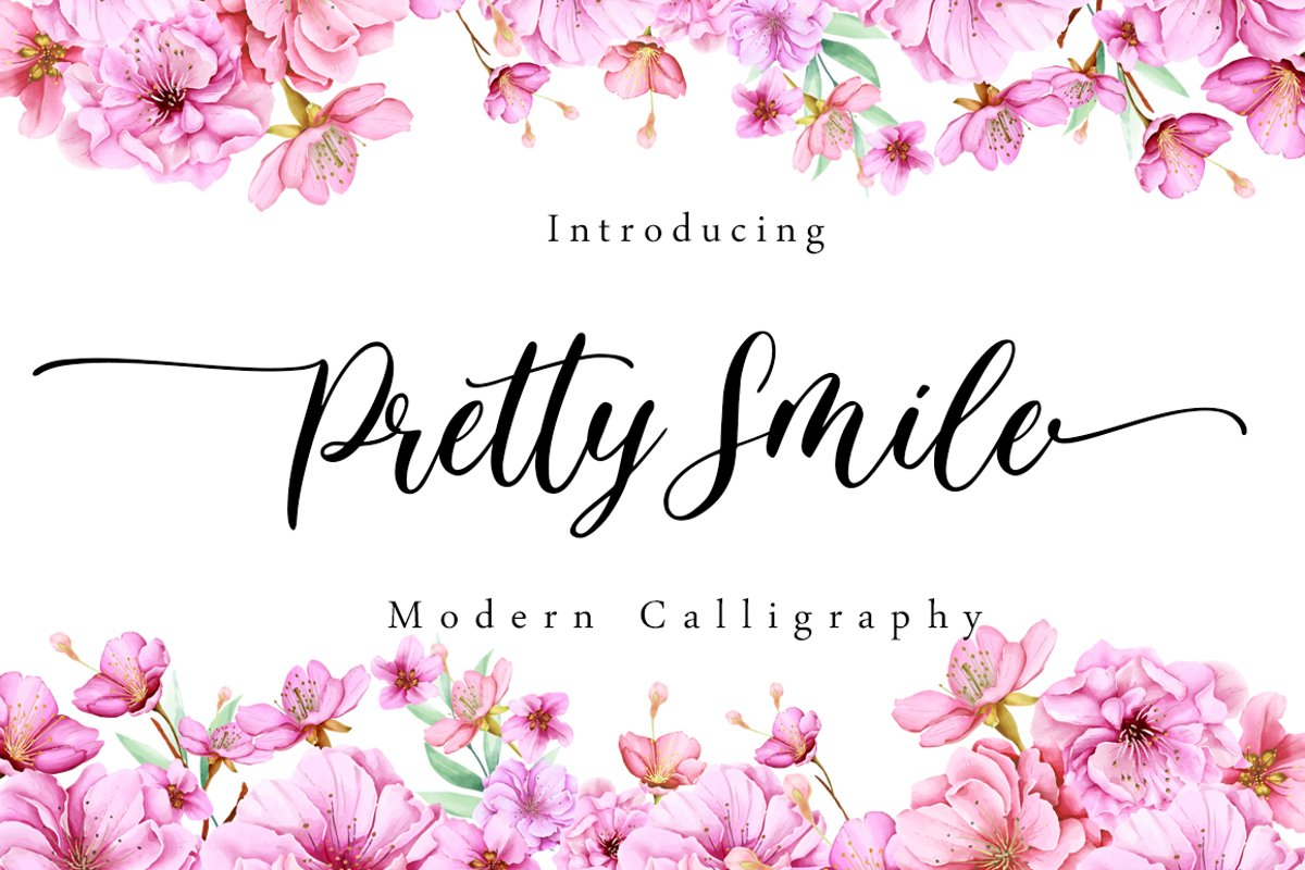 Pretty Smile - Modern Calligraphy example image 1