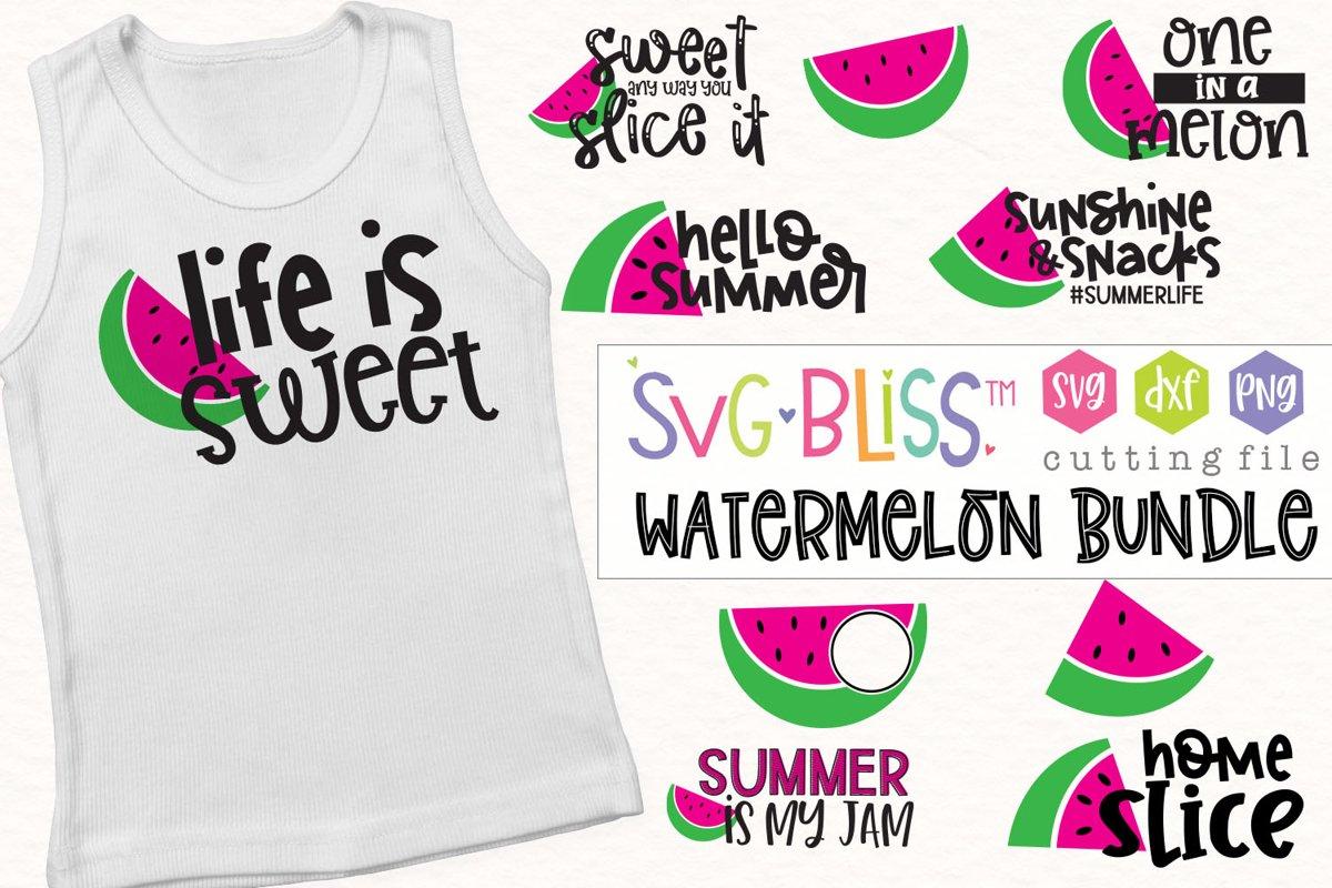 Watermelon SVG Bundle example image 1