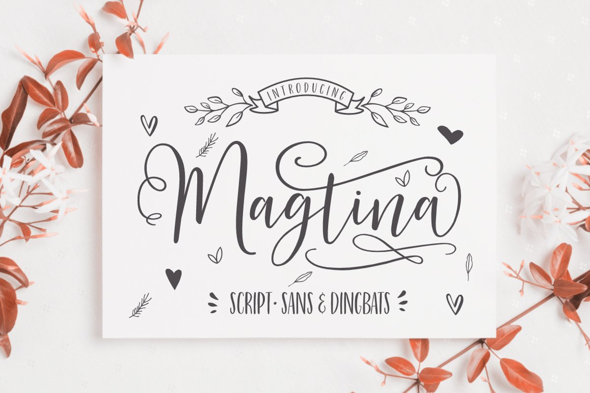 Magtina Script Duo with Xtras example image 1
