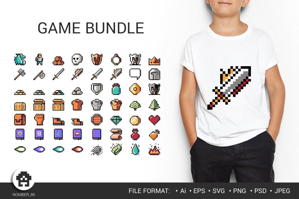 Big gamer svg bundle / vector bundle for gamers. example image 1