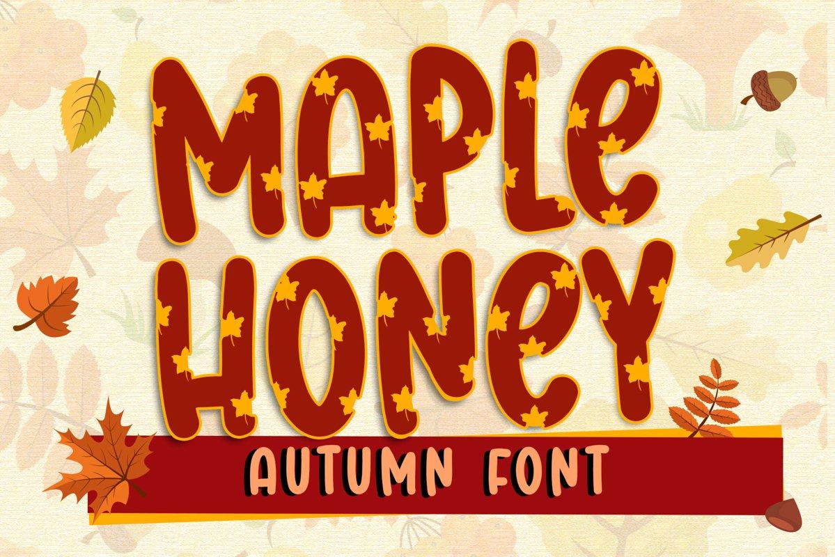 Maple Honey - Autumn Font example image 1