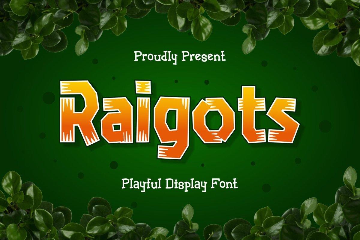 Raigots - Playful Display Font example image 1