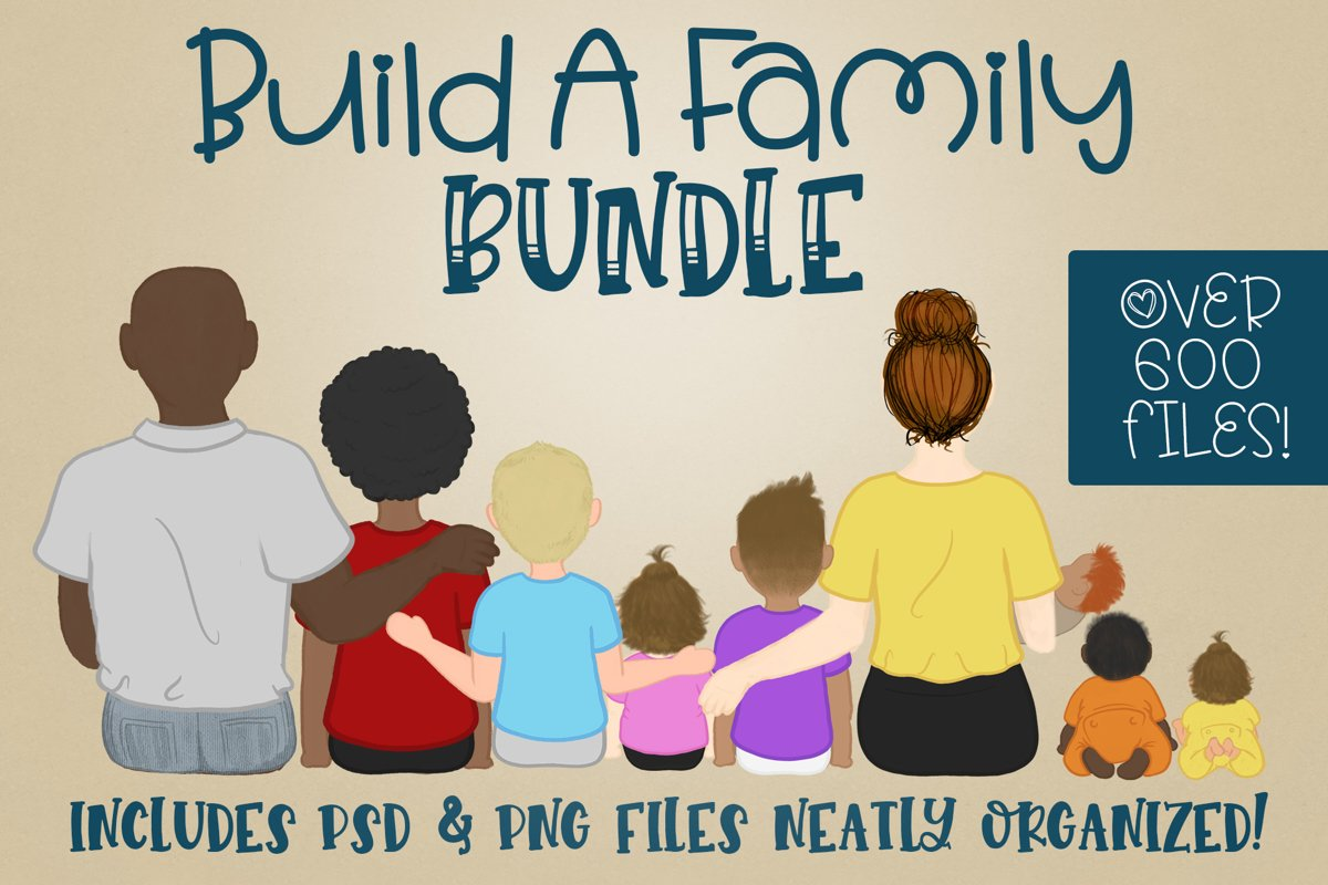 Build a Family| Character Builder | Family Builder|PNG PSD example image 1