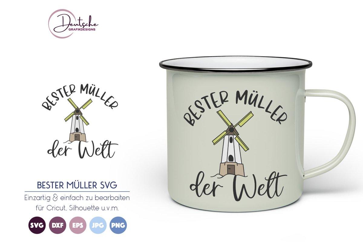 Bester Müller der Welt SVG | Mühle SVG example image 1