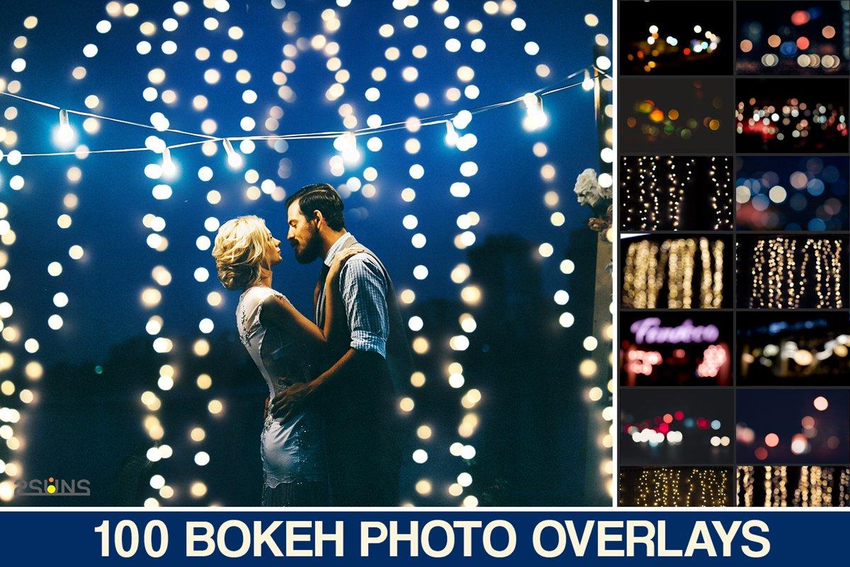 100 PHOTO OVERLAYS BOKEH LIGHT TEXTURES PACK wedding magic example image 1