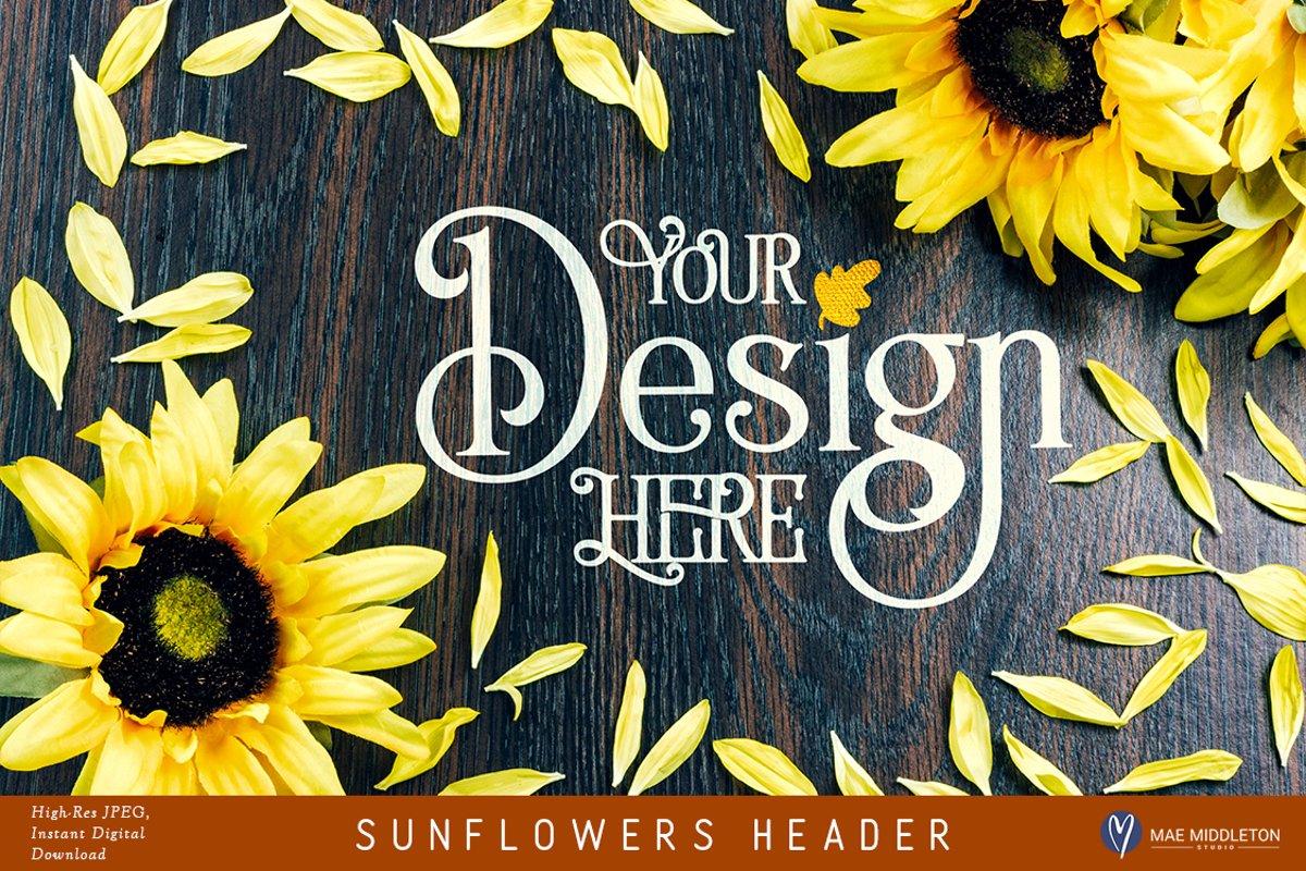 Sunflowers Flat Lay background |Header Image example image 1