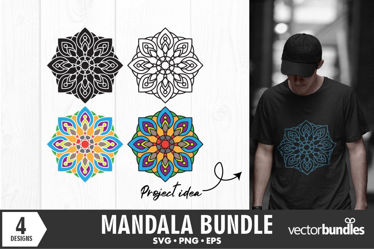 Mandala bundle svg designs example image 1