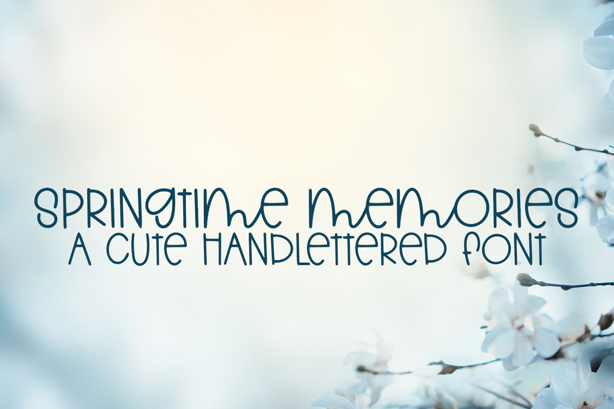 Springtime Memories - A Cute Hand-Lettered Font example image 1