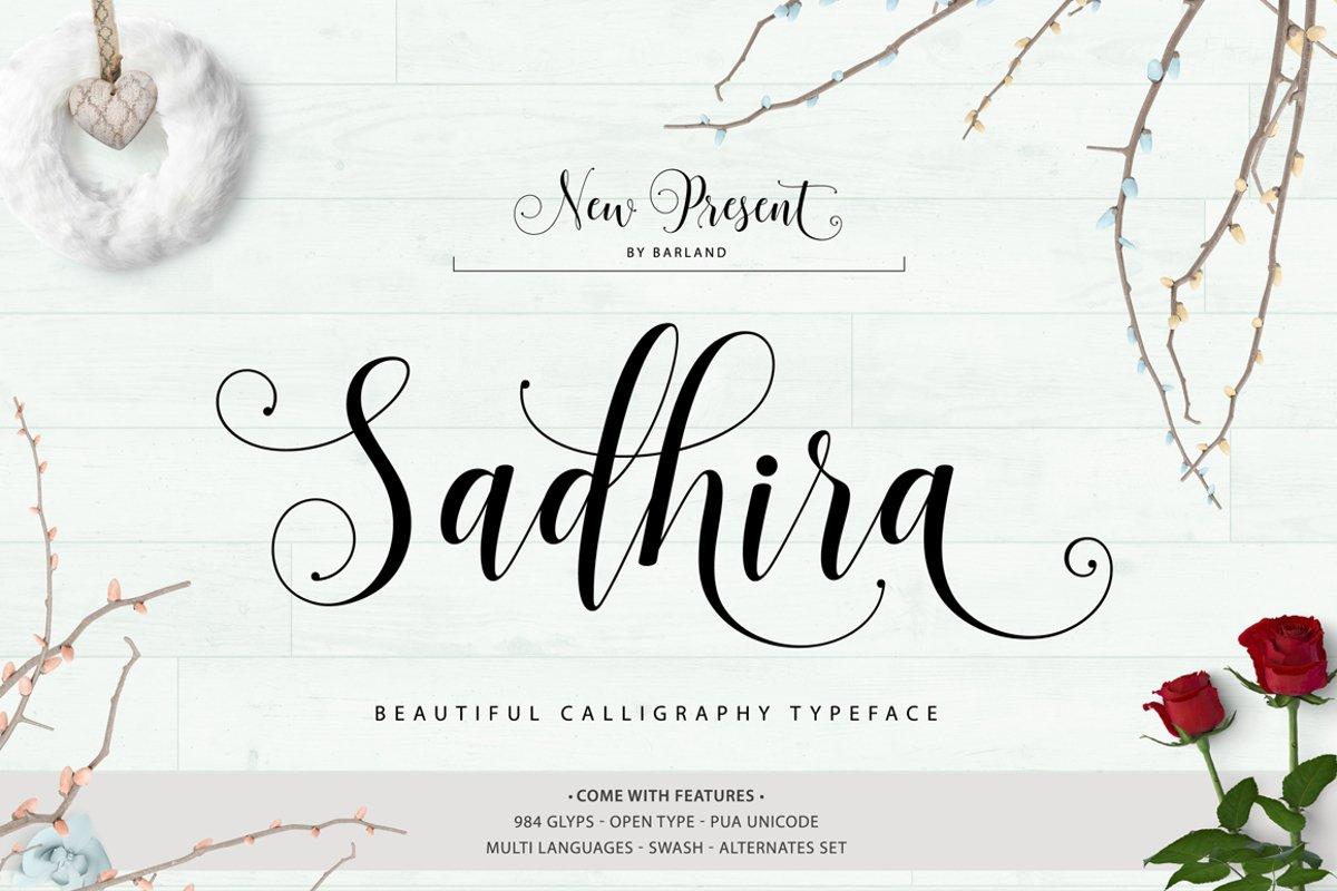 Sadhira Script Calligraphy Typeface example image 1