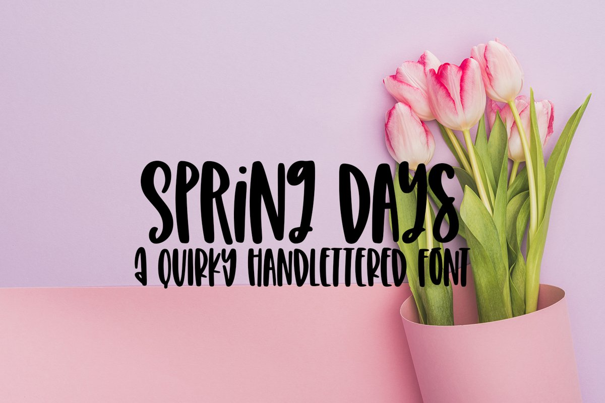 Spring Days - A Quirky Hand-Lettered Font example image 1
