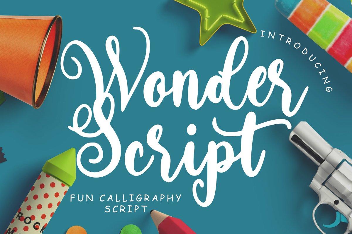 Wonder Script Fun Calligraphy example image 1
