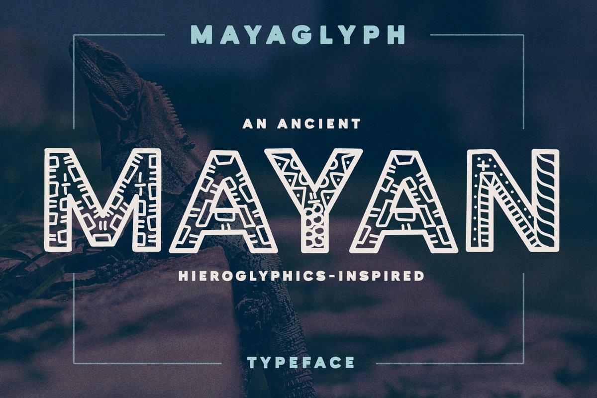 Mayaglyph - Ancient Mayan Font example image 1