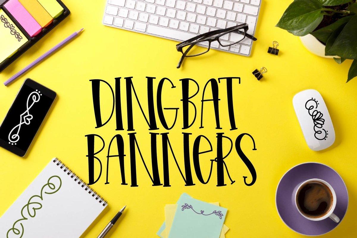 Elegant Scrolls - A Dingbat Font example image 1