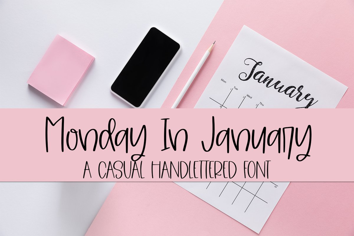 Monday In January - A Casual Hand-Lettered Font example image 1